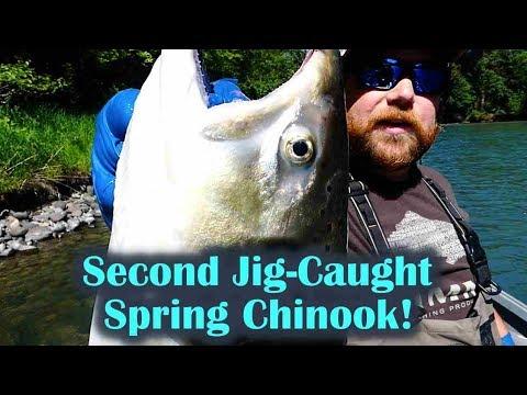 My Second Spring CHINOOK On A STEELHEAD Jig!!