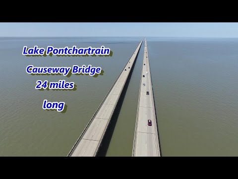 Lake Pontchartrain Causeway Bridge and Phantom 3 Advanced