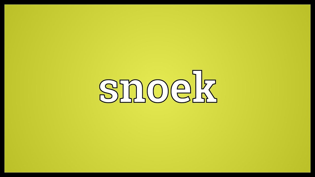 Snoek Meaning