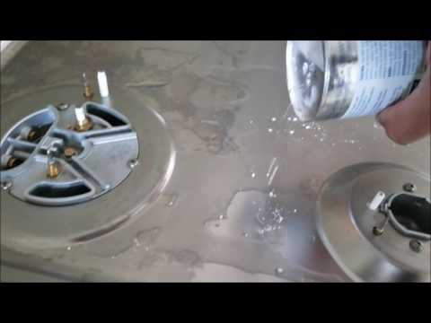 Discolored stainless steel stove top