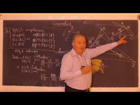 2/2 1076 Criterii de coliniaritate in plan;Tr Menelaus Problema de coliniaritate in spatiu