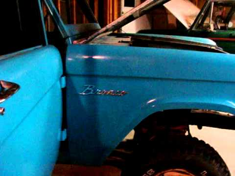 Teal Uncut Early Ford Bronco Project