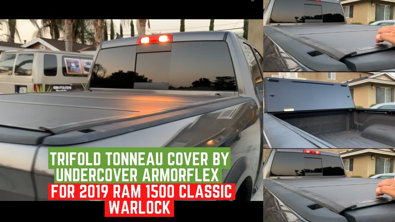 Trifold tonneau cover by UnderCover Armorflex  AX32004 For 2019 Ram 1500 Classic Warlock