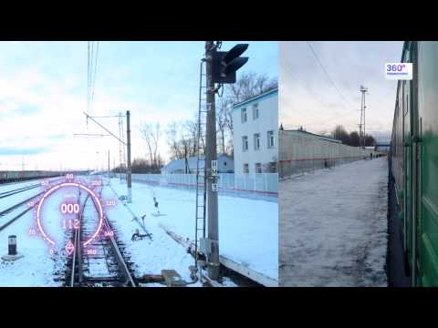 Москва - Калуга за 10 минут, из кабины электрички