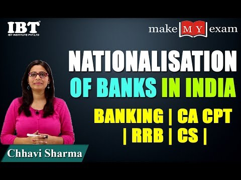 Nationalisation of Banks in India | Banking | CA CPT | RRB | CS | By Chhavi Sharma