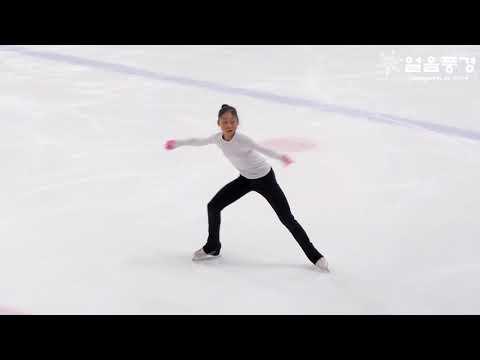 MINSEUNG KIM 김민승,구일중2 @ 2019년 피겨 종합선수권 공식연습 2일차 여자시니어 FS #11