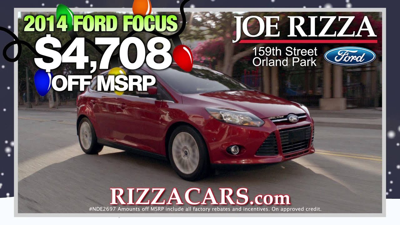 Joe Rizza Ford Orland Park Holiday Savings Youtube