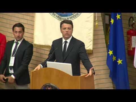 Campobasso - Patto per il sud Regione Molise, l'intervento di Renzi (26.07.16)