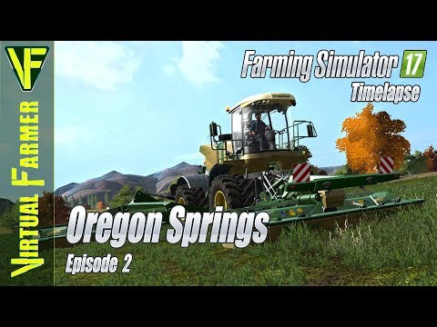 Feeding and Bedding the Cows | Oregon Springs, Episode 2 | Farming Simulator 17 Timelapse