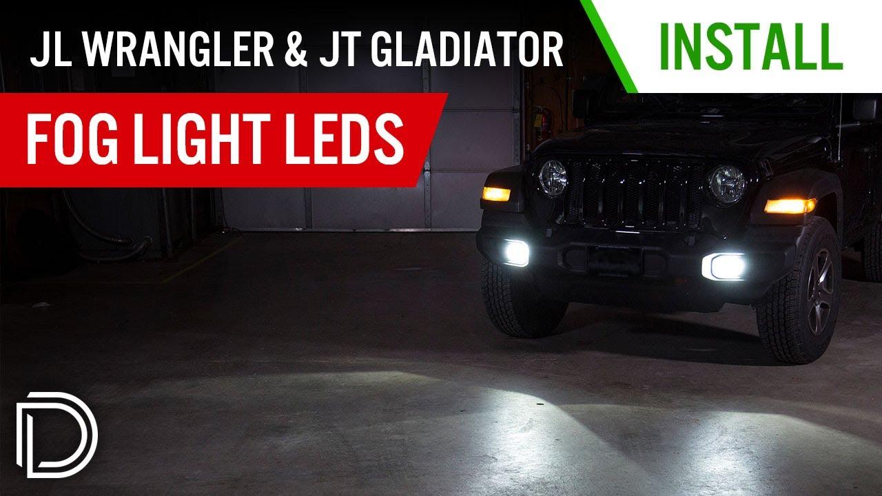 How To Install 2018 Jeep Jl Wrangler Fog Light Leds Diode Jk Wiring Diagram Dynamics