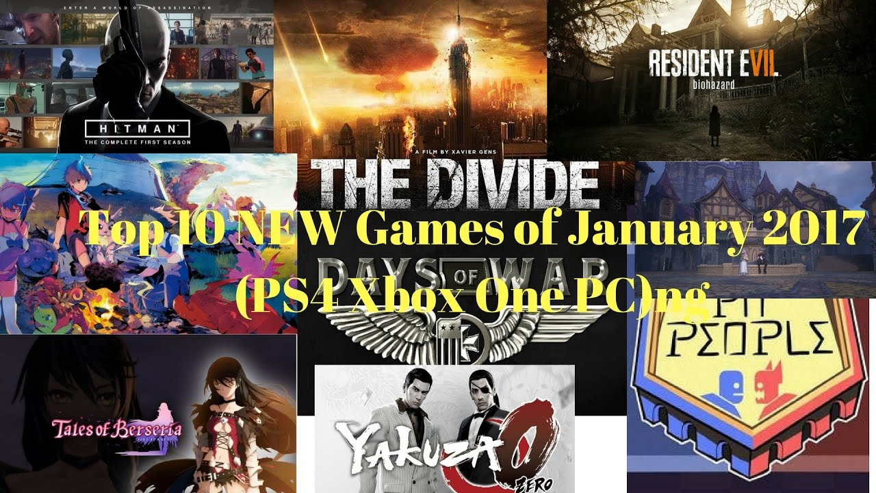 Upcoming Games Top 10 New Games Of January 2017 Ps4 Xbox
