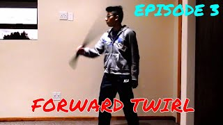 Cool Sword Trick Tutorials-Episode 3: Forward Twirl