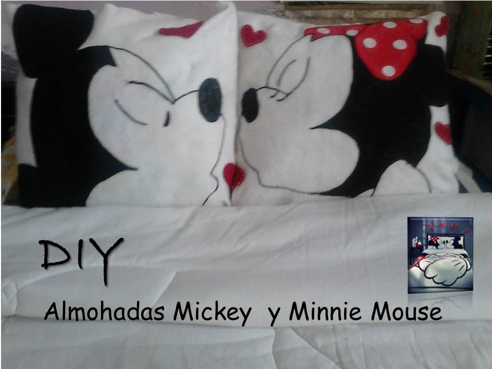 Diy Almohadas Minnie y Micky Mouse  YouTube