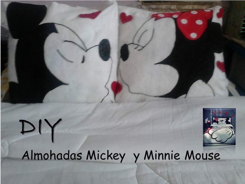 Diy. Almohadas Minnie y Micky Mouse. ❤ ❤   YouTube