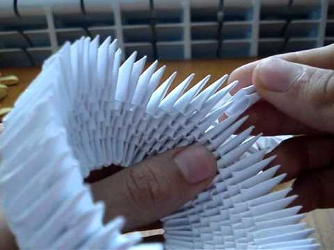How to make a 3d origami swan 1 youtube