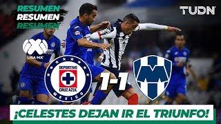 Resumen y goles | Cruz Azul 1 – 1 Monterrey | Liga Mx – Ap 2019 – J11 | TUDN