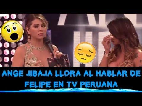 ANGIE JIBAJA ROMPIÓ EN LLANTO AL HABLAR DE FELIPE LASSO EN TV DE PERÚ