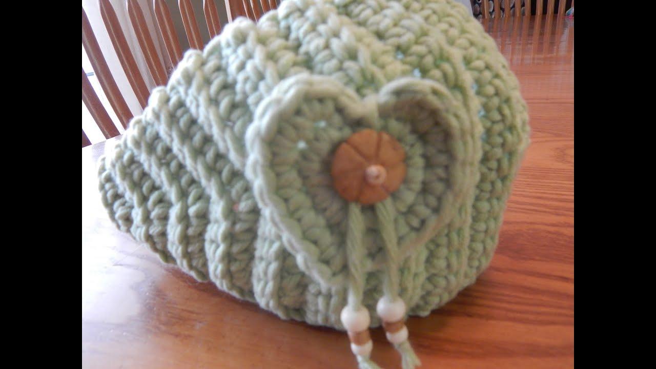 Banda con Corazón para Niña crochet - YouTube