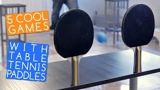 5 Cool Party Games With Table Tennis Paddles