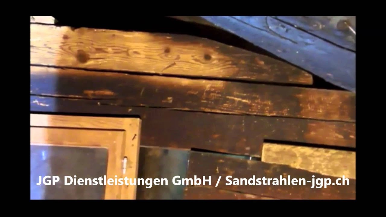 holz sandstrahlen gma strahlen youtube. Black Bedroom Furniture Sets. Home Design Ideas