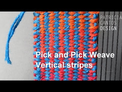 Weave vertical stripes - Weaving lesson for beginners
