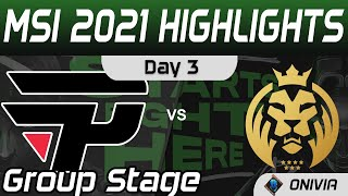 PNG vs MAD Highlights Day 3 MSI 2021 Group Stage paiN Gaming vs MAD Lions by Onivia