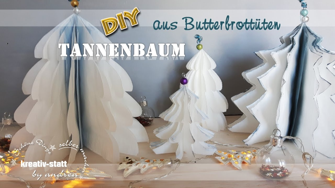 diy basteln tannenbaum weihnachtsbaum aus papier. Black Bedroom Furniture Sets. Home Design Ideas