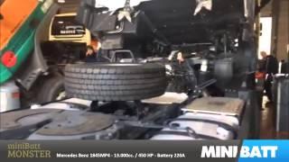 Cargador Baterías MiniBatt Arrancador Monster 12V/24V 32.000 mAh