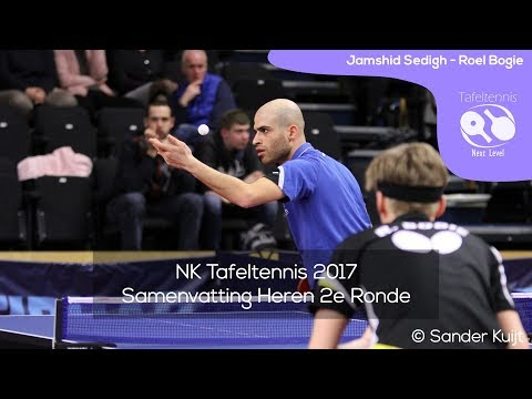 Jamshid Sedigh - Roel Bogie | NK Tafeltennis 2017 Heren R2