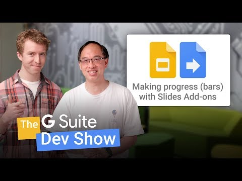 Making progress (bars) with Slides Add-ons (The G Suite Dev Show)