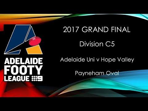 Adelaide Footy 2017 Grand Final - C5 Adelaide Uni v Hope Valley