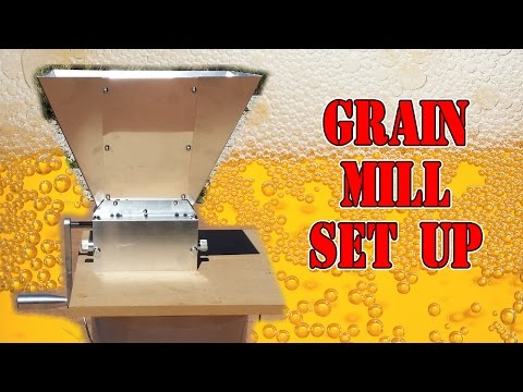 Grain Mill Set Up - How to - 3 Roller Mill - YouTube