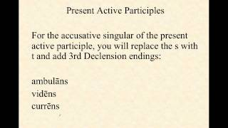 Present Active Participles in Latin
