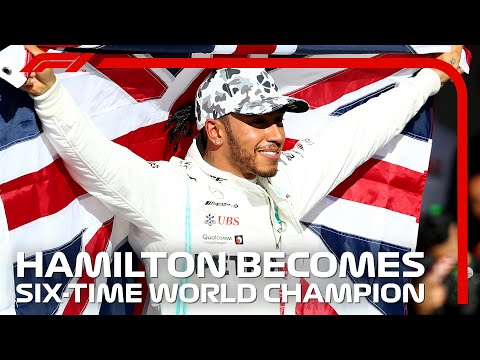Lewis Hamilton Celebrates Winning His SIXTH World Title | 2019 United States Grand Prix