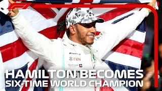 Lewis Hamilton Celebrates Winning His SIXTH World Title | 2019 United States Grand Prix