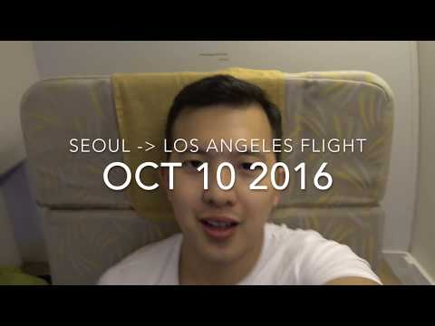 Flying First Class: Seoul → Los Angeles (for FREE!) Asiana Airlines