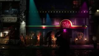 Pixel noir inspired ambience with music and rain - Backbone game