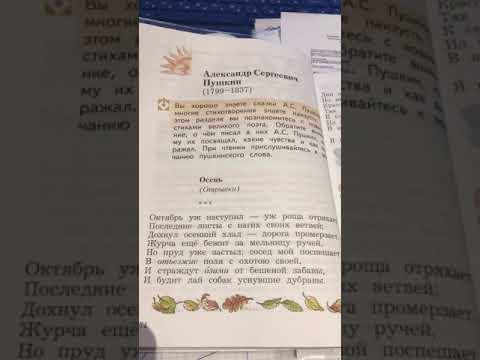 Пушкин А.С. Октябрь уж наступил - уж роща отряхает последние листы