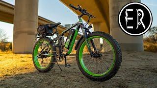 Cyrusher XF800 review: 750 WATT, FULL SUSPENSION fat tire electric mountain bike