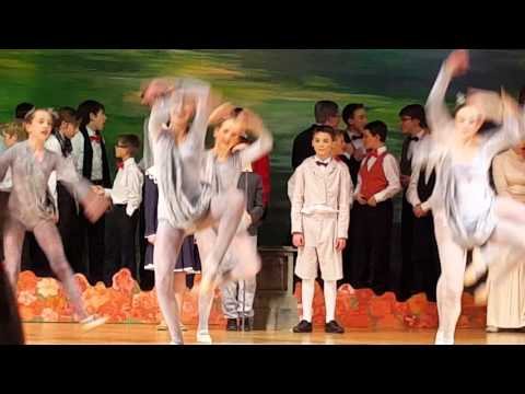 Caleb's first scene in Mary Poppins, 11/19/15