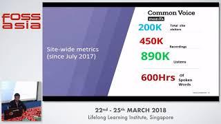 Mozilla's Common Voice - Sandeep Kapalawai - FOSSASIA 2018