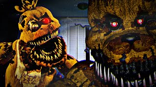 SOY NIGHTMARE FREDBEAR & NIGHTMARE CHICA - Five Nights at Freddy's Simulator (FNAF Game)
