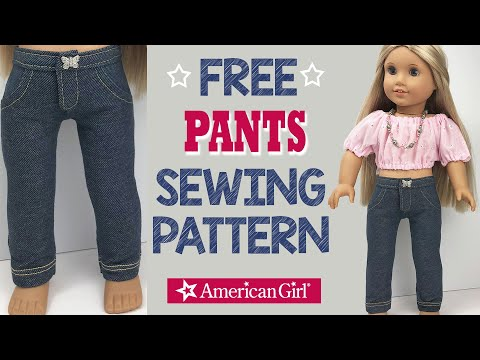 "Jeans and Pink T-Shirt for American Girl 18/"" Doll Clothes Pants Set"