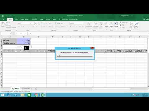 ProLaw automated Excel report 1 minute demo