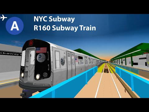 OpenBVE Simulator - NYC Subway R160 *A* Train Gameplay to Howard Beach ✈ With Timers!