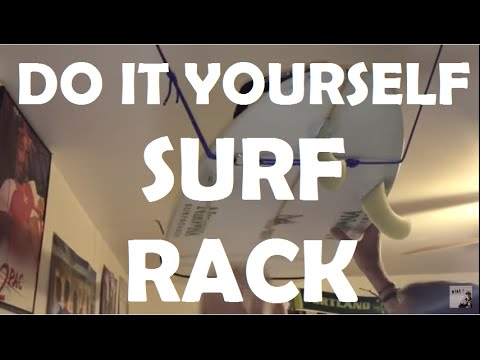 Surfboard Rack DIY // Mounting a Ceiling Board rack