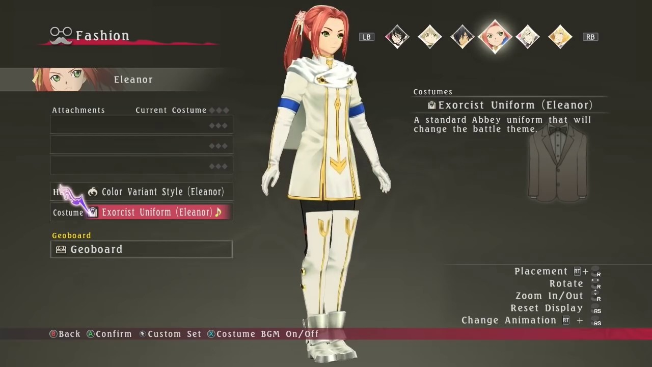 All Eleanor S Costumes Includes All Dlc Tales Of Berseria