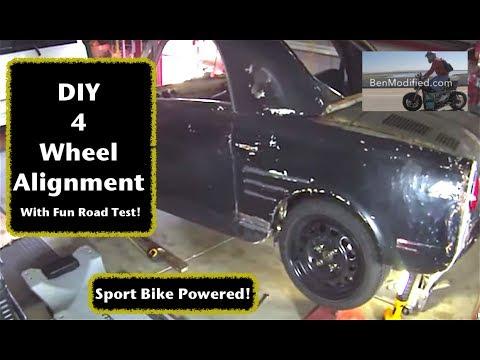 Micro SuperCar w/Yamaha R1 Power - 4 Wheel Tape Measure Alignment