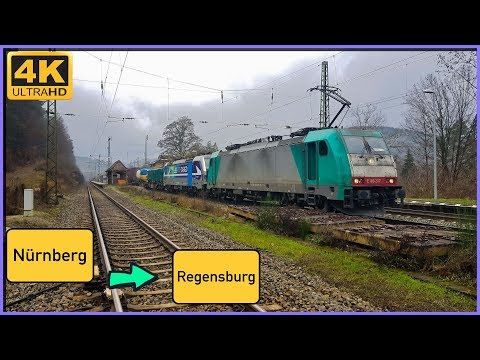 【4K】 Führerstandsmitfahrt Nürnberg