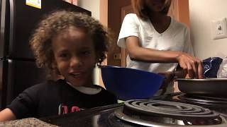 My Little Brother Got Burned | Cooking W Chase